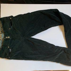 PAIGE Dark Green Velvet Pants